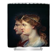 Tiberius & Agrippina Shower Curtain