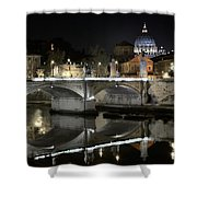 Tiber's Reflection Of Religion Shower Curtain