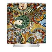 Tibetan Buddhist Mural Shower Curtain