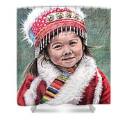 Tibetan Girl Shower Curtain