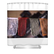 Tibetan Prayer Flags Shower Curtain