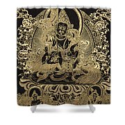 Tibetan Thangka - Vaishravana - God Of Wealth And Regent Of The North Shower Curtain