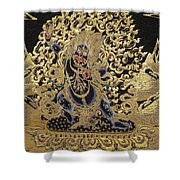 Tibetan Thangka - Vajrapani - Protector And Guide Of Gautama Buddha Shower Curtain