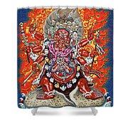 Tibetan Thangka  - Wrathful Deity Hayagriva Shower Curtain