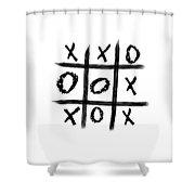 Tic-tac-toe Shower Curtain