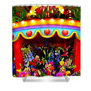 Ticket Booth Of Flowers Shower Curtain