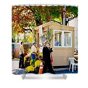 Ticket Booths Shower Curtain
