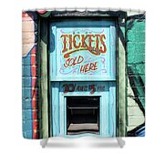 Ticket Window For Show Tickets Shower Curtain
