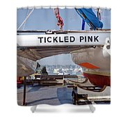 Tickled Pink In Mylor Cornwall Shower Curtain