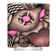 Tickled Pink Shower Curtain