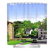 Ticknall Village From Ingleby Lane Shower Curtain