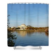 Tidal Basin And Jefferson Memorial Shower Curtain