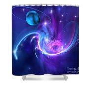 Tidal Forces Shower Curtain