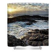 Tidal Pool Sunset Shower Curtain