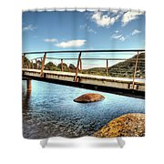 Tidal River Bridge Shower Curtain