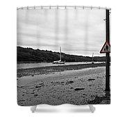Tidal Road Shower Curtain
