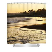 Tidal Sunset Shower Curtain