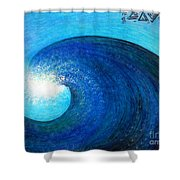 Tidal Wave. Power And Beauty Shower Curtain