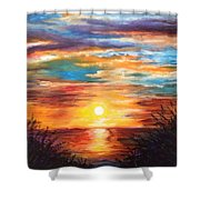 Tide Marsh Sunset Shower Curtain