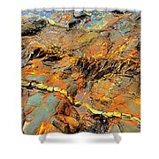 Tide Pool Ribbons Shower Curtain