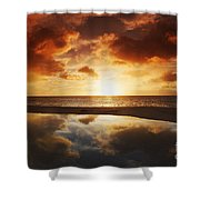 Tidepool At Sunset Shower Curtain