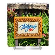 Tidepools Restaurant Shower Curtain