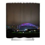 Tie Dye Bridge Shower Curtain