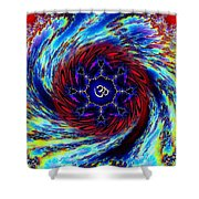 Tie Dyed Om Swirl Shower Curtain