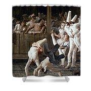 Tiepolo: Acrobats, 18th C Shower Curtain