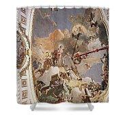 Tiepolo Palacio Real The Apotheosis Of The Spanish Monarchy Giovanni Battista Tiepolo Shower Curtain