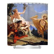 Tiepolo's Apollo Pursuing Daphne Shower Curtain