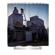 Tiffany Feed And Supply Shower Curtain by Viviana Nadowski