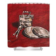 Tiffin Carrier - Still Life Shower Curtain