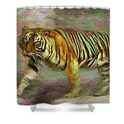 Save Tiger Shower Curtain