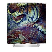 Tiger And Deer Shower Curtain
