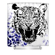 Tiger And Paisley Shower Curtain