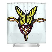 Tiger-butterfly Celtic Double Knot Shower Curtain