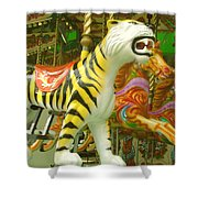 Tiger Carousel Shower Curtain