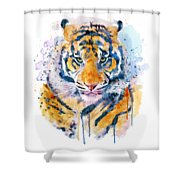 Tiger Face Shower Curtain