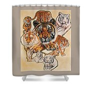 Tiger Haven Shower Curtain