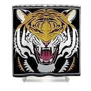 Tiger Head Shower Curtain