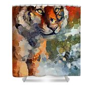 Tiger Hotty Totty Style Shower Curtain