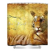 Tiger In The Sun Shower Curtain