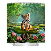 Tiger Lily Shower Curtain by Jerry LoFaro