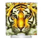 Tiger Painted Shower Curtain