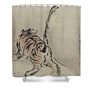 Tiger Painting Shower Curtain