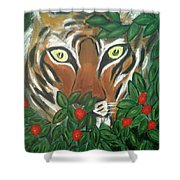 Tiger Prey  Shower Curtain