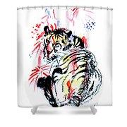 Tiger Siesta Shower Curtain