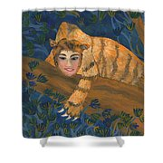 Tiger Sphinx Shower Curtain