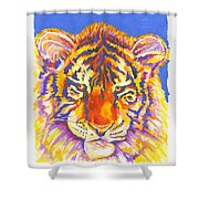Tiger Shower Curtain by Stephen Anderson
